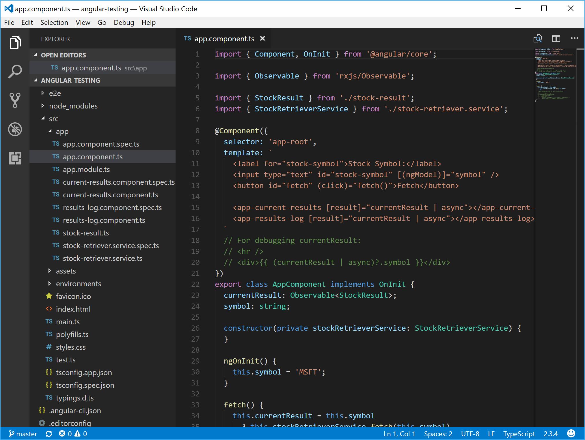 A Minimal UI Visual Studio Code Configuration